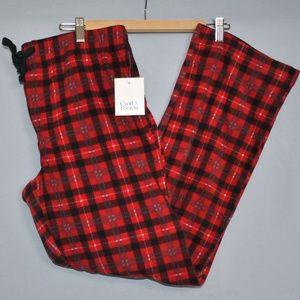 Croft & Barrow Men's Fleece Pajama Bottoms Size M